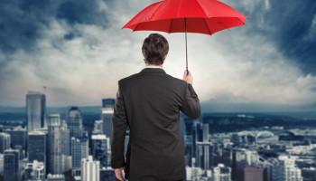 Umbrella-businessman